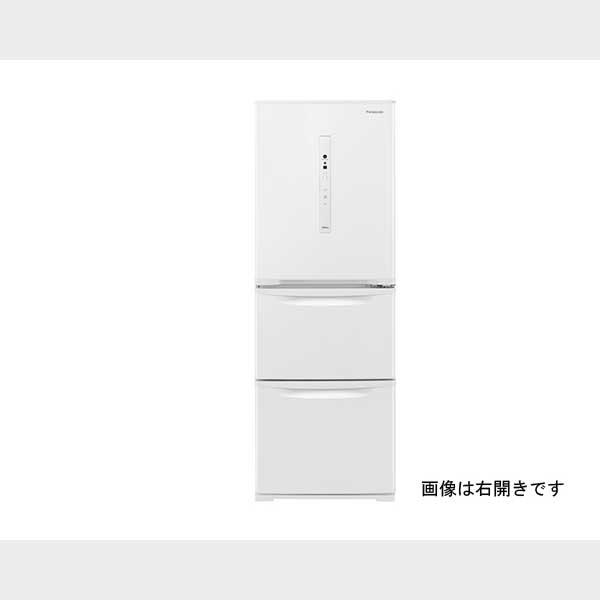 パナソニック 335L3ドア冷蔵庫 ピュアホワイト 左開きタイプ NR-C341CL-W