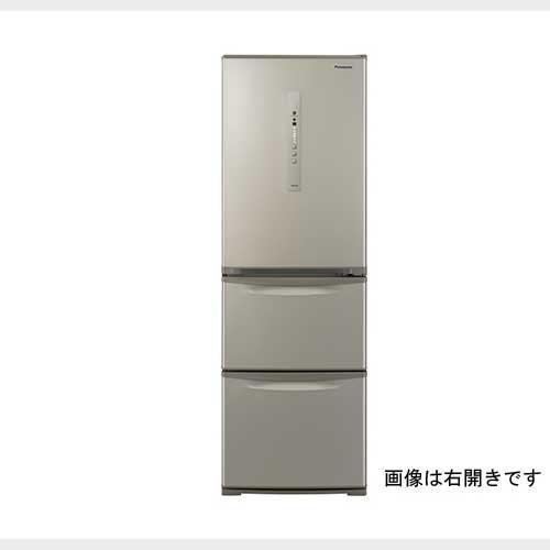 パナソニック 365L3ドア冷蔵庫 シルキーゴールド 左開きタイプ NR-C371NL-N