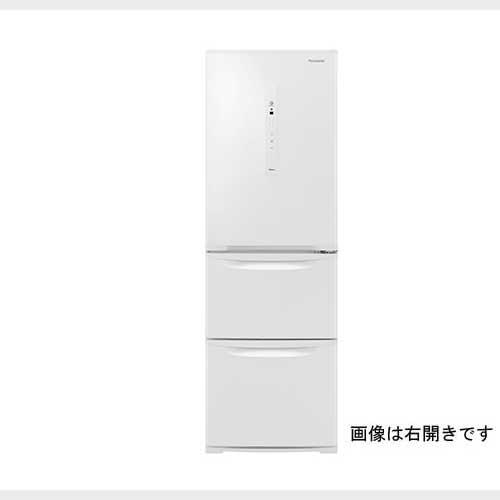 パナソニック 365L3ドア冷蔵庫 ピュアホワイト 左開きタイプ NR-C371NL-W