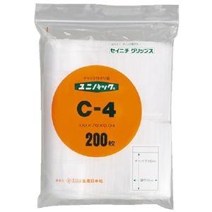 その他 (まとめ)生産日本社 ユニパックチャックポリ袋100*70 200枚 C-4(×20セット) ds-2276630