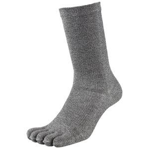その他 (まとめ)福徳産業 デオセル消臭靴下5本指 モクカラー L 2足組(×10セット) ds-2277034