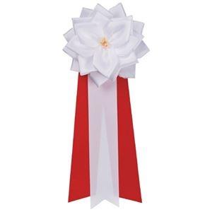 その他 (まとめ)銀鳥産業 徽章リボン バラ 小 タレ459-231 白(×50セット) ds-2278168