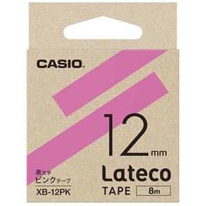 その他 (まとめ)カシオ計算機 ラテコ専用テープXB-12PK ピンクに黒文字(×30セット) ds-2279050
