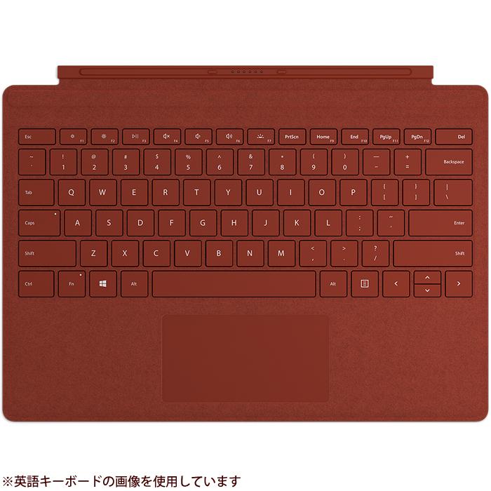 マイクロソフト 【タブレットケース】Surface Pro Signature タイプ カバー 日本語レイアウト・ポピーレッド FFP-00119