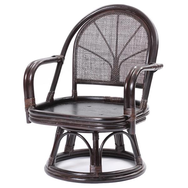 ラタンワールド ラタン回転座椅子 ハイタイプ (CB(ダークブラウン)) C722CB