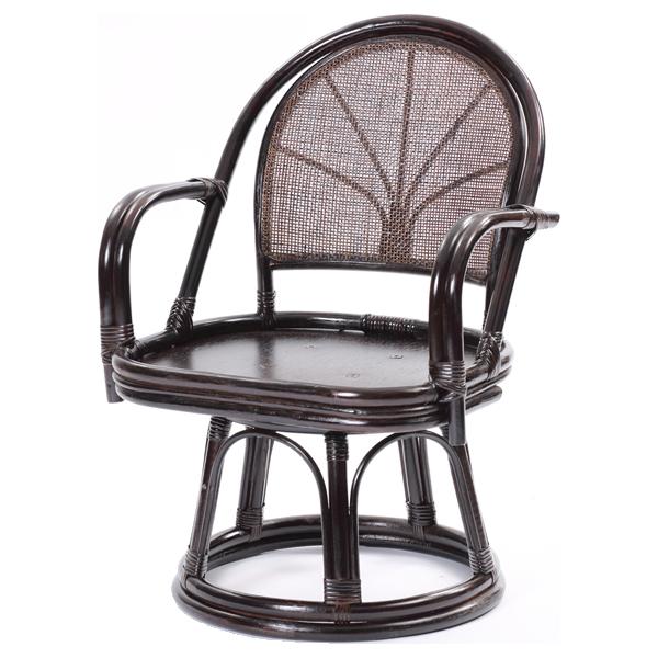 ラタンワールド ラタン回転座椅子 エクストラハイタイプ (CB(ダークブラウン)) C723CB