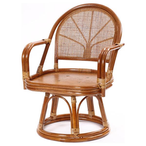 ラタンワールド ラタン回転座椅子 エクストラハイタイプ (HR(ブラウン)) C723HR