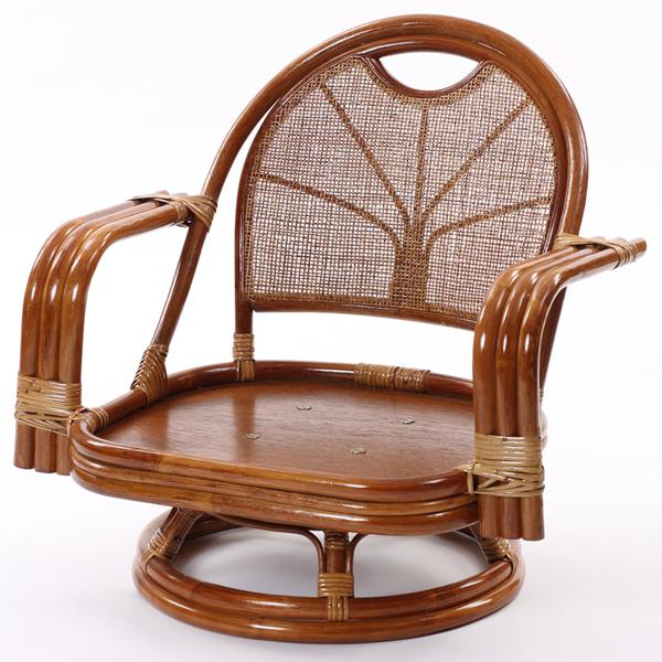 ラタンワールド ラタン ワイド回転座椅子 ミドルタイプ (HR(ブラウン)) C841HR【納期目安:10/下旬入荷予定】