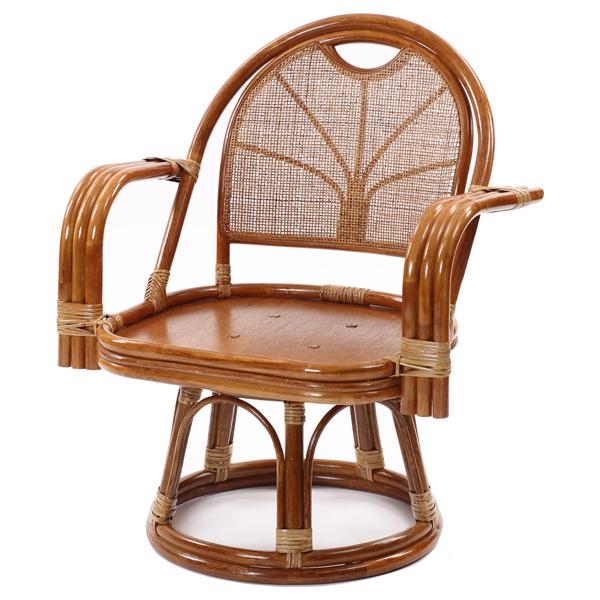 ラタンワールド ラタン ワイド回転座椅子 エクストラハイタイプ (HR(ブラウン)) C843HR