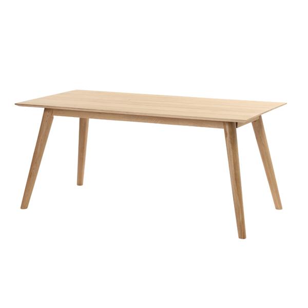 ラタンワールド 天然オーク無垢材 ダイニングテーブル 160cm幅 (NA ナチュラル (ホワイトオーク) ) L2T360NA