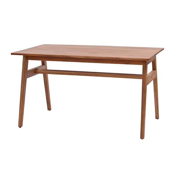 ラタンワールド チーク無垢材 ダイニングテーブル 幅130cm (RK) T590RK