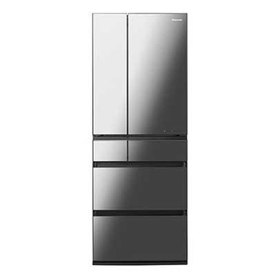パナソニック 550L パーシャル搭載冷蔵庫 オニキスミラー(ミラー加工) NR-F556WPX-X