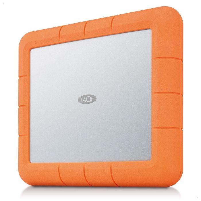 エレコム HDD LaCie 8TB Rugged Raid Shuttle 防滴 防塵 耐衝撃 USB-C USB3.1 Gen2 ケーブル Type-C USB-A Mac Win RoHS指令 オレンジ STHT8000800