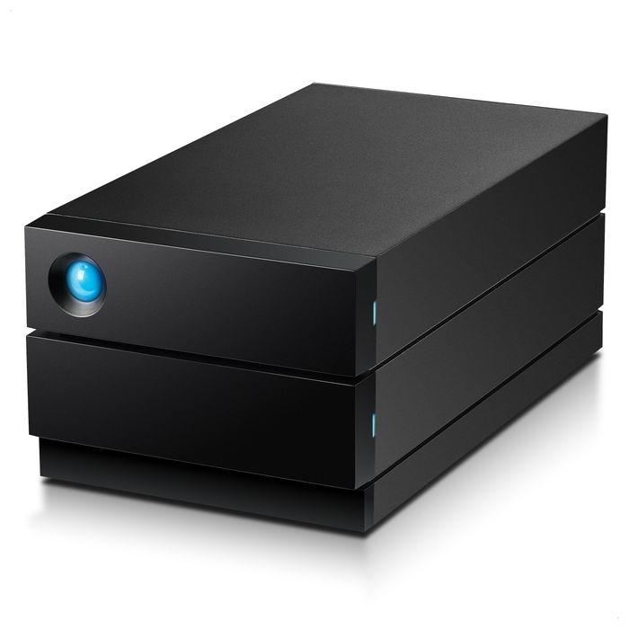 エレコム HDD LaCie 4TB 2big RAID 0 / 1 USB-C USB3.1 Gen2 IronWolf Pro ケーブル Type-C USB-A Mac Win RoHS指令 セキュリティ 盗難防止 ブラック STHJ4000800