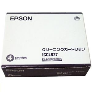 その他 エプソン クリーニングカートリッジPX-6000用 ICCLN27 1セット(4本) ds-2143284