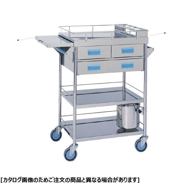 松吉医科器械 カラー繃帯交換車 引出3コ付 MY-1123P ピンク 20-4071-05