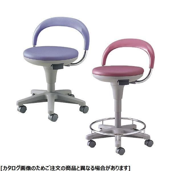 松吉医科器械 ナースチェア MY-N3200 背付・リング付 ブルー 21-6000-0002
