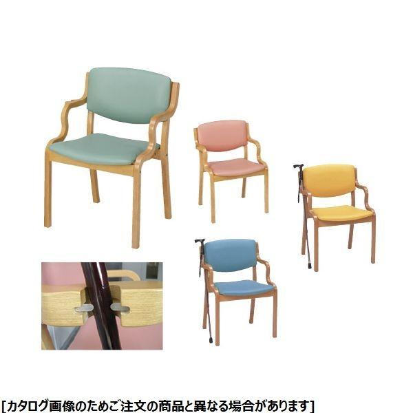 プラス 福祉用いす PD-5003S ライトグリーン 23-2094-10【納期目安:1週間】