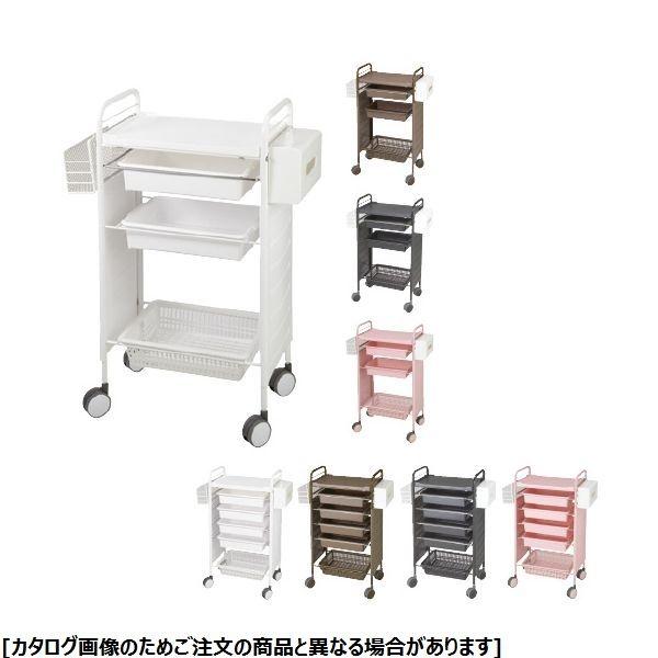 松吉医科器械 カラーアプリワゴン SN-AP007 サイドカバー付 ブラウン 24-2440-0002