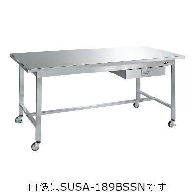 【最安値挑戦!】 サカエ ステンレス作業台(移動式・SUS304) SUSA-157BSSN:激安!家電のタンタンショップ-DIY・工具