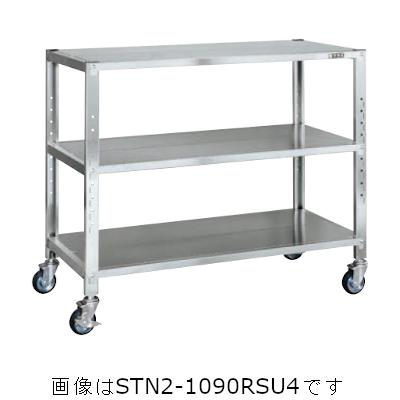 サカエ ステンレスサカエキャスターラック(ゴムキャスター付・SUS430) STN1-1290RSU4