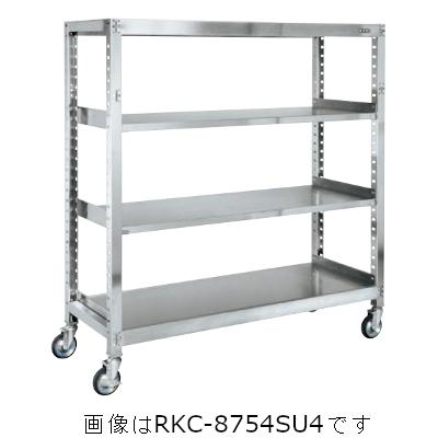 サカエ ステンレスキャスターラックRK型(ゴムキャスター付・SUS430) RKC-8654SU4