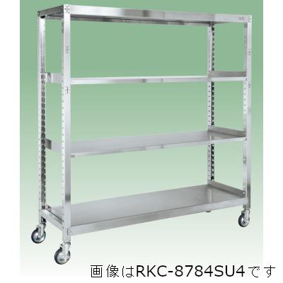 サカエ ステンレスキャスターラックRK型(ゴムキャスター付・SUS430) RKC-8684SU4