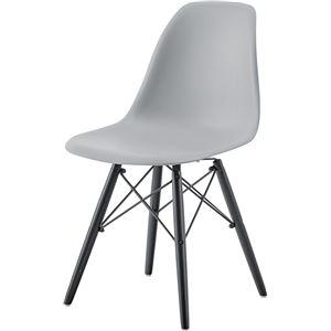 その他 モダン パーソナルチェア/椅子 2脚セット 【グレー】 幅44cm×奥行53cm×高さ79cm×座面高44cm 木製脚付き 【組立品】 ds-2286176