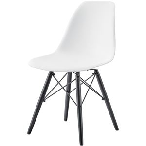 その他 モダン パーソナルチェア/椅子 2脚セット 【ホワイト】 幅44cm×奥行53cm×高さ79cm×座面高44cm 木製脚付き 【組立品】 ds-2286177