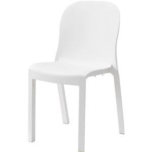 その他 シンプル パーソナルチェア/椅子 4脚セット 【ホワイト】 幅47cm×奥行53cm×高さ84cm×座面高47cm 〔リビング 店舗〕 ds-2286179