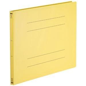 その他 (まとめ)TANOSEE フラットファイル(再生PP)A3ヨコ 150枚収容 背幅18mm イエロー 1パック(5冊)【×10セット】 ds-2308878