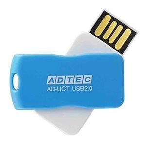 その他 (まとめ)アドテック USB2.0回転式フラッシュメモリ 32GB ブルー AD-UCTL32G-U2R 1個【×10セット】 ds-2308898