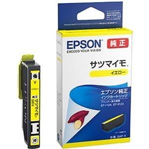 その他 (まとめ)エプソン インクカートリッジ サツマイモ イエロー SAT-Y 1個【×10セット】 ds-2309564