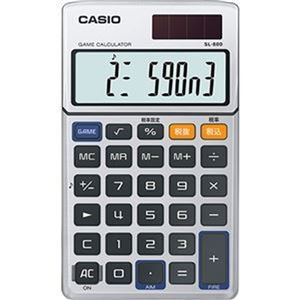 その他 (まとめ)カシオ ゲーム電卓 手帳タイプ 10桁SL-880-N 1台【×5セット】 ds-2309731