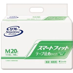その他 (まとめ)リブドゥコーポレーション リフレスマートフィット テープ止めタイプ M 1パック(20枚)【×5セット】 ds-2309799