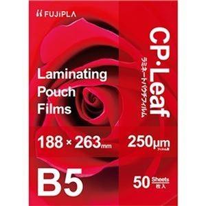 その他 (まとめ)ヒサゴ フジプラ ラミネートフィルムCPリーフ B5 250μ CP2518826Y 1パック(50枚)【×5セット】 ds-2310648