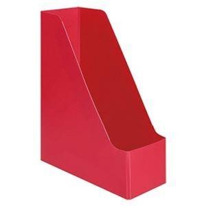 その他 (まとめ)TANOSEE PP製ボックスファイル(組み立て式)A4タテ レッド 1セット(10個)【×5セット】 ds-2311081