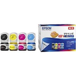 その他 (まとめ)エプソン インクボトル タケトンボ4色パック TAK-4CL 1箱(4個:各色 1個)【×5セット】 ds-2311355