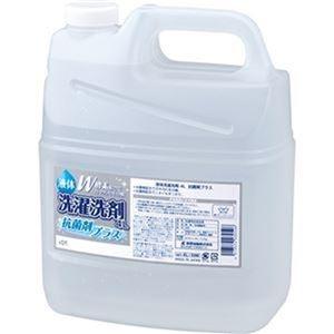 その他 (まとめ)熊野油脂 液体洗剤 抗菌剤プラス4L/本 1セット(4本)【×3セット】 ds-2311748