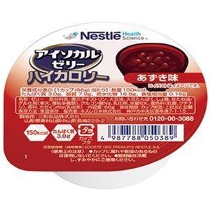 その他 (まとめ)ネスレ アイソカルゼリーハイカロリーあずき味 66g 1セット(24個)【×3セット】 ds-2312152