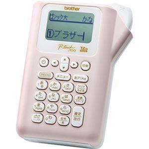 その他 (まとめ)ブラザー ピータッチ ピンクPT-J100P 1台【×3セット】 ds-2312345