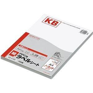その他 (まとめ)コクヨ PPC用 紙ラベル(共用タイプ)A4 ノーカット KB-A190 1冊(100シート)【×3セット】 ds-2312444