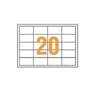 その他 (まとめ)ライオン事務器 PPCタックラベルA4判 68.58×38.1mm(20片入)PPC-20F 1箱(100シート)【×3セット】 ds-2312500