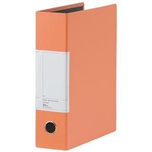 その他 (まとめ)TANOSEE 両開きパイプ式ファイルSt A4タテ 500枚収容 50mmとじ 背幅77mm オレンジ 1セット(10冊)【×3セット】 ds-2312576