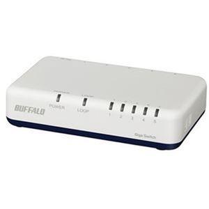 その他 (まとめ)バッファロー Giga対応スイッチングハブ プラスチック筐体 電源外付けモデル 5ポート ホワイト LSW6-GT-5EP/WH 1台【×3セット】 ds-2312700