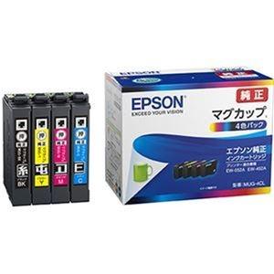 その他 (まとめ)エプソン インクカートリッジ マグカップ 4色パック MUG-4CL 1箱(4個:各色 1個)【×3セット】 ds-2313026