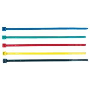 その他 (まとめ)サンワサプライ ケーブルタイ カラー5色長さ101mm 5色(ブルー・グリーン・レッド・イエロー・ ブラック)CA-612 1パック(50本:各色10本)【×20セット】 ds-2301805