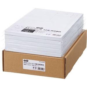 その他 TANOSEE A4タックシール業務用パック 12面 42.3×86.4mm 四辺余白 1箱(500シート:100シート×5冊) ds-2290564