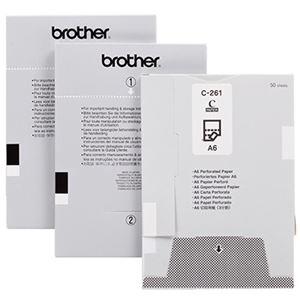 その他 ブラザー MPRINTシリーズ用ペーパーカセット 切取用紙(3分割)A6サイズ C-261 1セット(1000枚:50枚×20カセット) ds-2290809