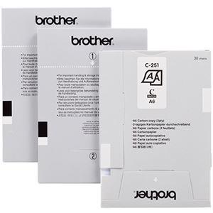 その他 ブラザー MPRINTシリーズ用ペーパーカセット 複写紙(2枚複写)A6サイズ C-251 1セット(300枚:30枚×10カセット) ds-2290810